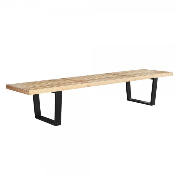 Wood Slat Bench