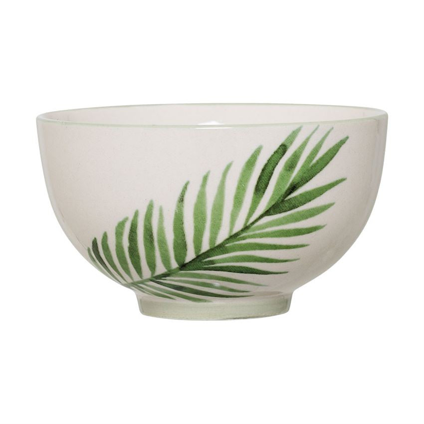 Ceramic Bowl with Fern