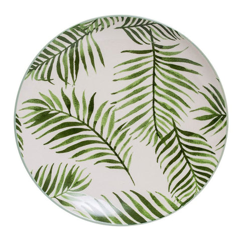 Ceramic Plate with Fern