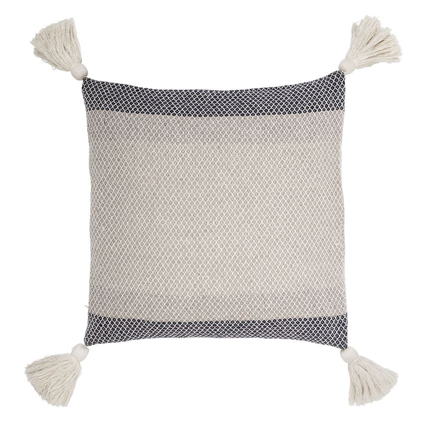 Color Block Cotton Blend Pillow