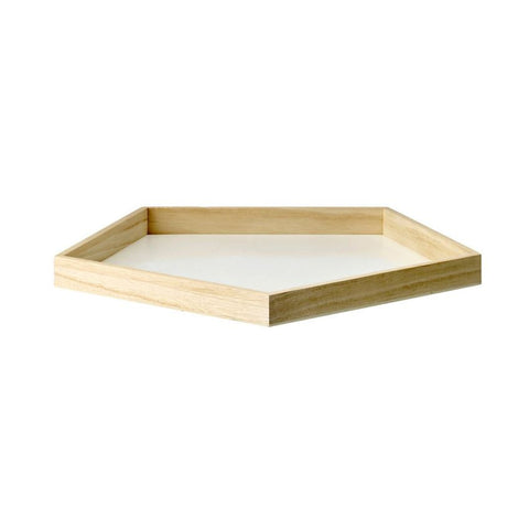 Pentagonal Tray with White Bottom