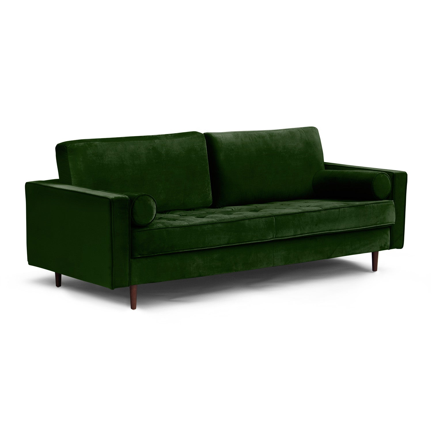 Pillows For Mid Century Modern Sofa : Mid Century Modern Tufted Sofa with Bolster Pillows Mod House
