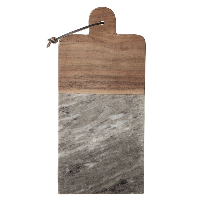 Marble & Acacia Wood Cutting Board w/ Knife