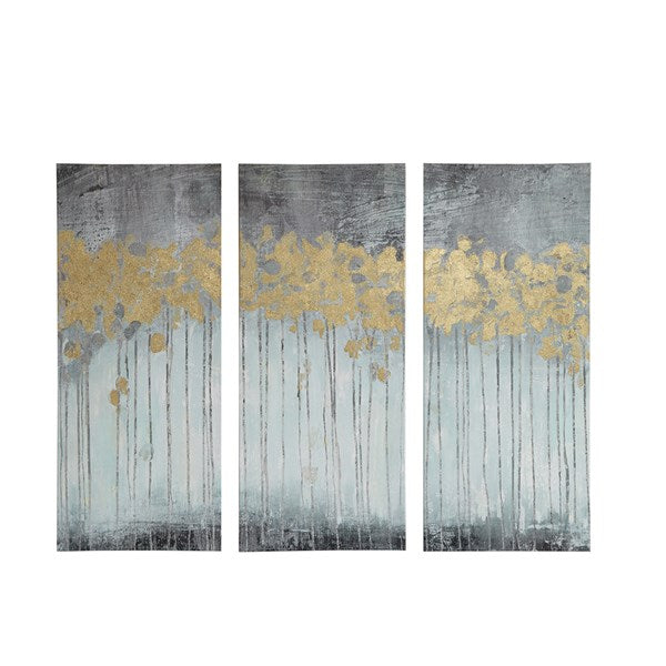 Grey Forest Canvas - Set of 3