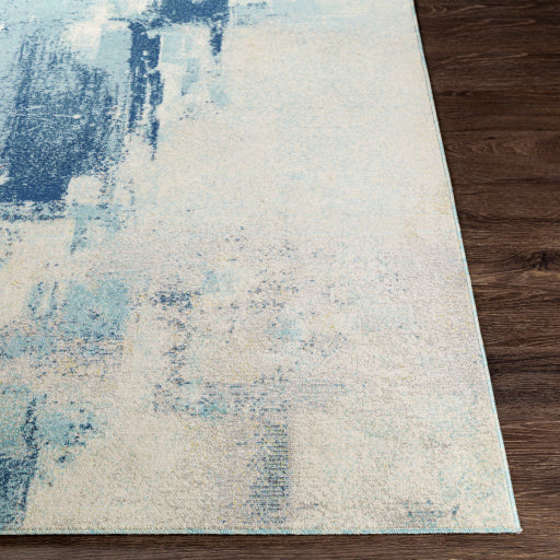 Bodrum Blue Aqua and Grey Outdoor Rug