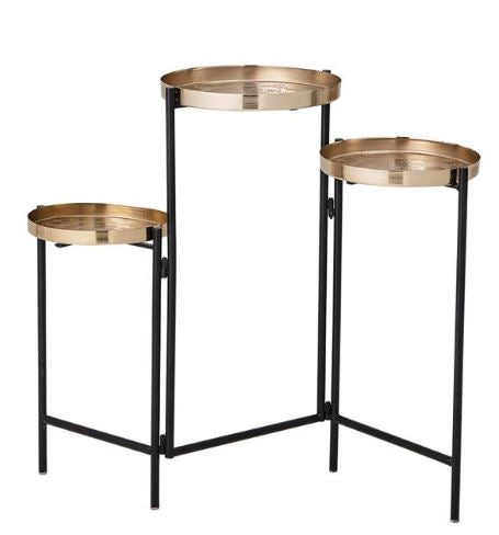 Brass and Black Plant Stand/Table