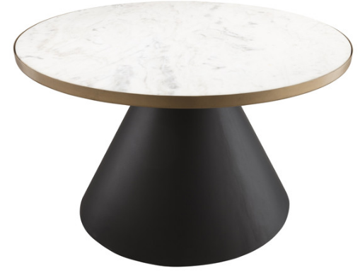 Marble Top Black and Gold Base Coffee Table