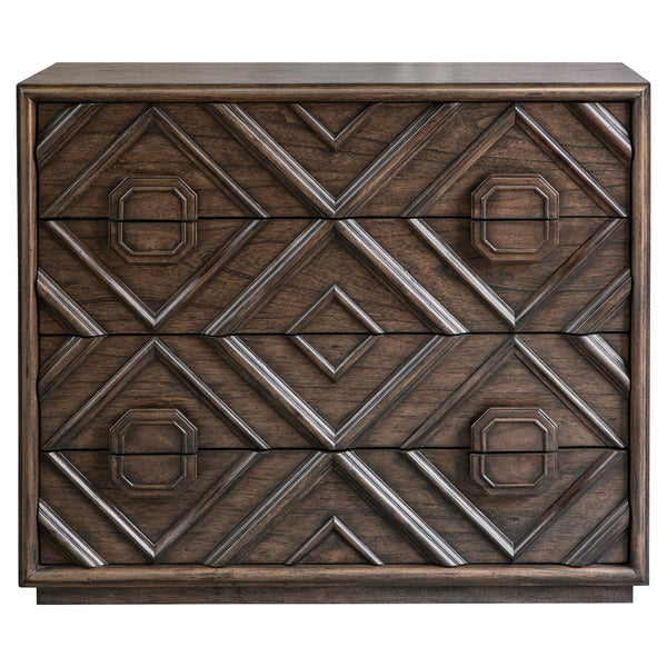 Geometric 4 Drawer Chest
