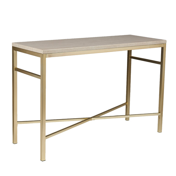 Orinda Faux Stone Console Table