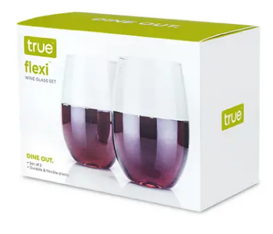 Flexi: Stemless Wine Glasses-Set of 2