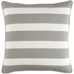 Wide Striped Pillow- Multiple Colors