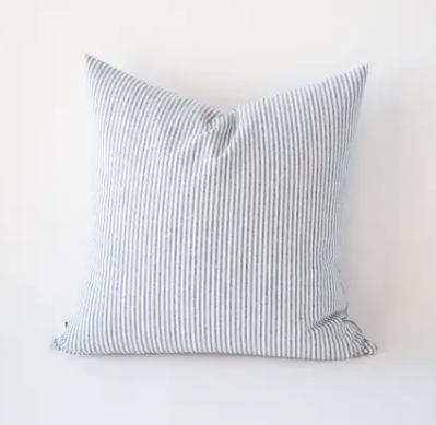 Indigo Stripe Pillow with Fill