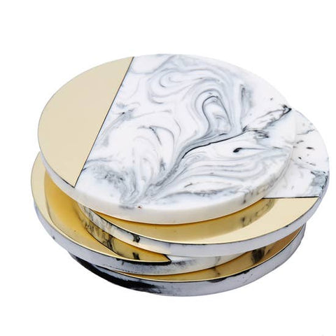 Set of 4 Marble Shaded Wine Coasters