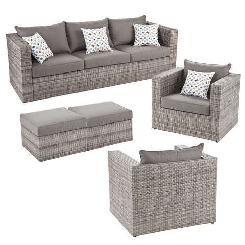 Bristow Outdoor Deep Seating 5 Piece Set