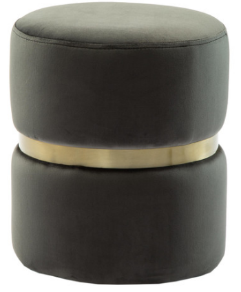 Velvet and Gold Ottoman