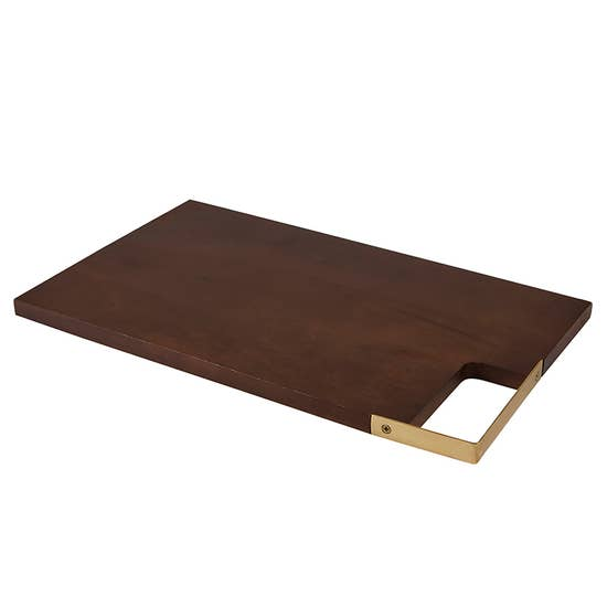 Rectangle Wood and Brass Board
