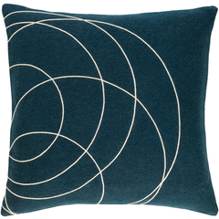 solid bold swirl pillow cover - Multiple colors