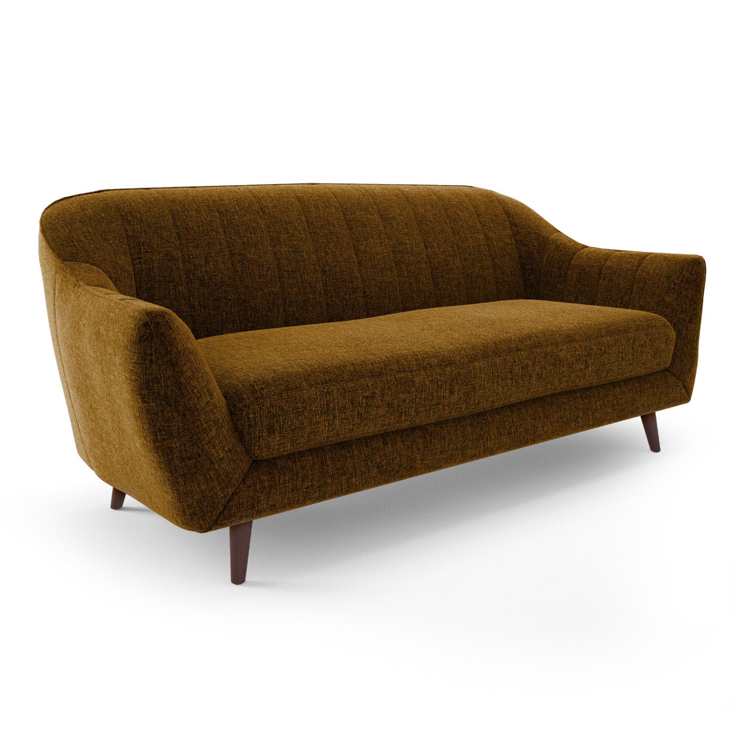 Mid Century Modern Flared Arm Sofa