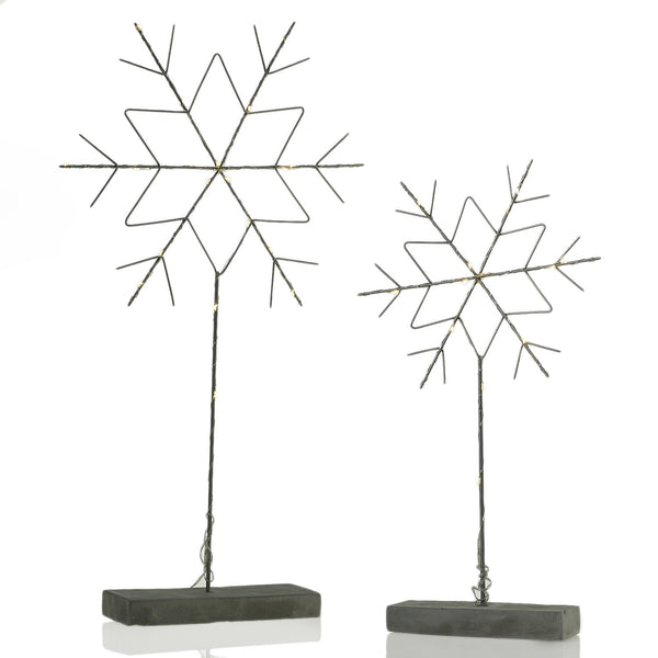 Snowflake Stand with Lights