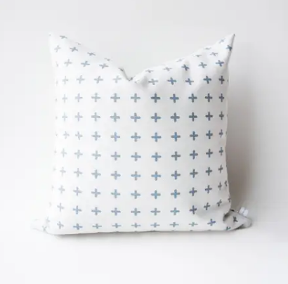 Stitch Cross Pillow with Fill