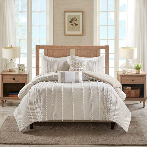 Cotton Yarn Dyed 3 Piece Comforter