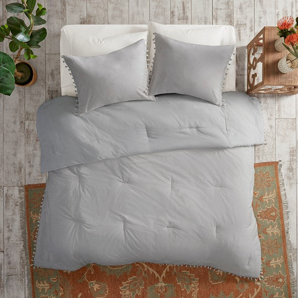 Cotton Tassel Comforter Set