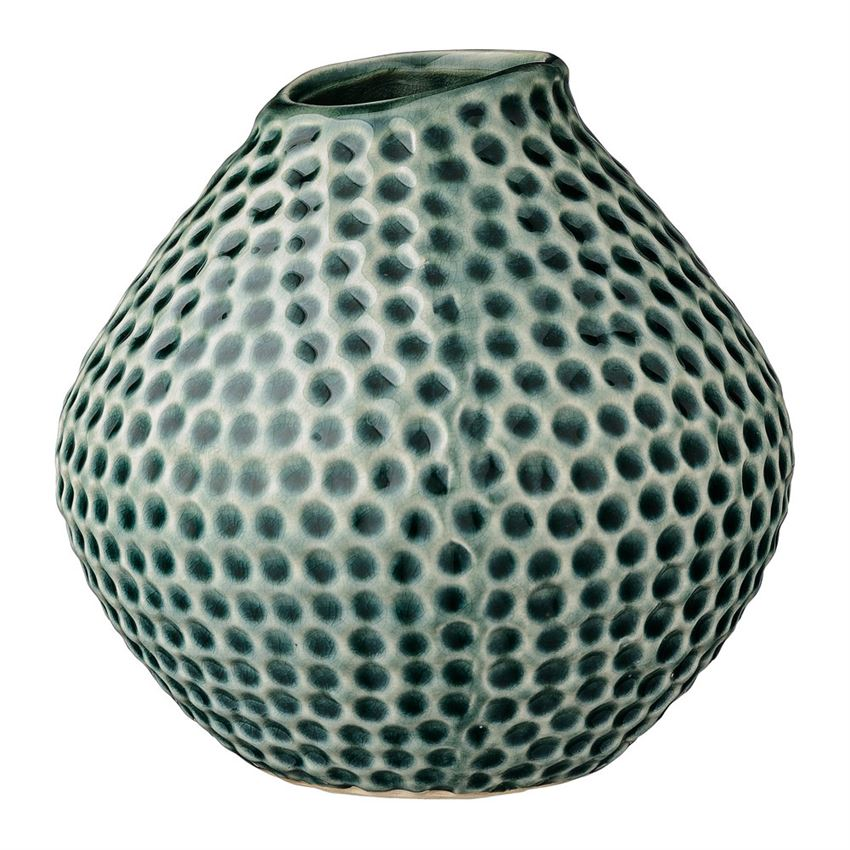 Multi-circled Teal Vase