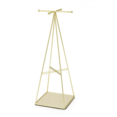 PRISMA JEWELRY STAND BRASS