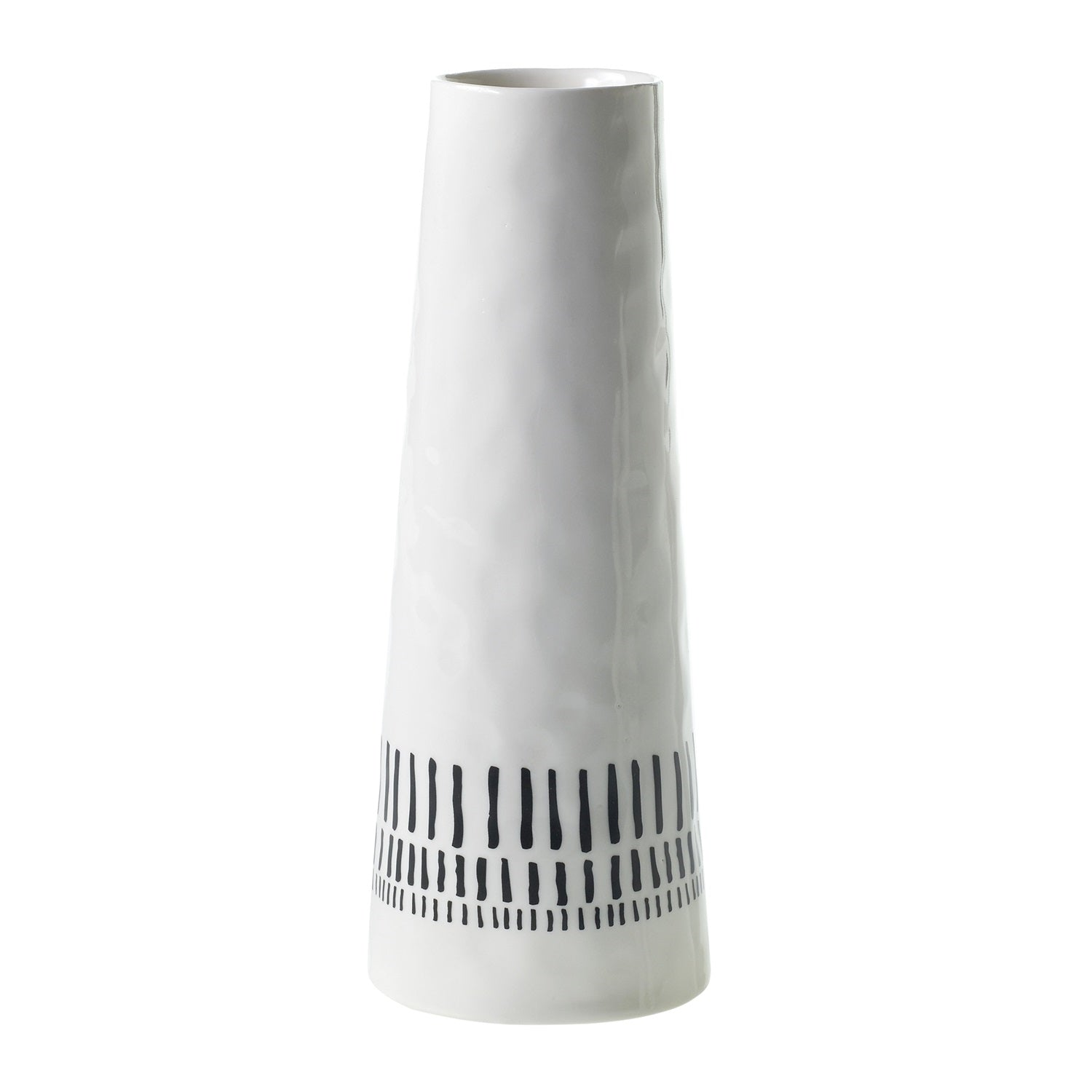 Tribal White Vase