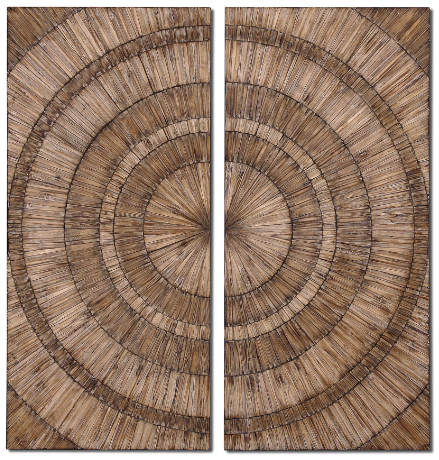Lanciano Wood Wall Panels Set of 2