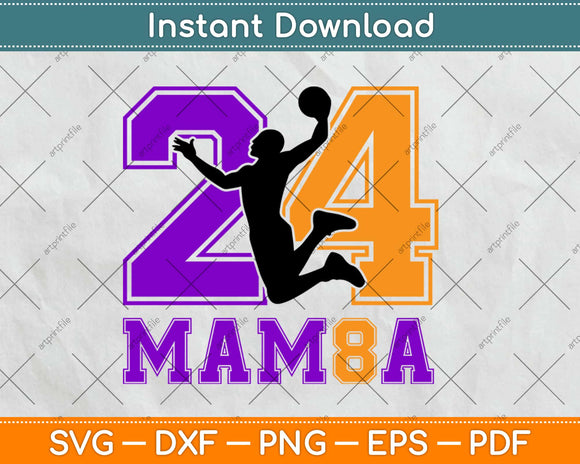 24-Mamba Basketball Svg Design Cricut Printable Cutting