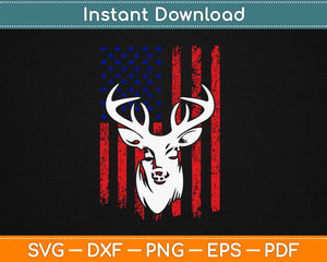 American Flag Deer Hunting Svg Design Cricut Printable