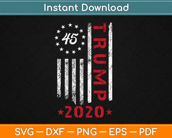 American Flag Design Trump 2020 Svg Design Cricut Printable