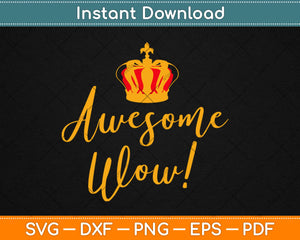 Awesome Wow Gift King George Founding Father Hamilton Svg