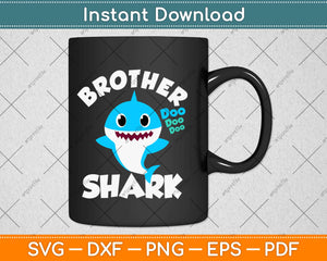Brother Shark Gift - Cute Baby Shark Design Family Set Svg
