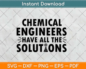 Chemical Engineer Solutions Engineering Svg Design Cricut