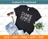 Dunkie Junkie Funny Coffee Svg Design Cricut Printable