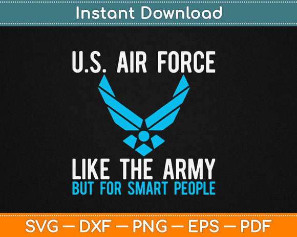 Funny US Air Force Svg Design Cricut Printable Cutting Files