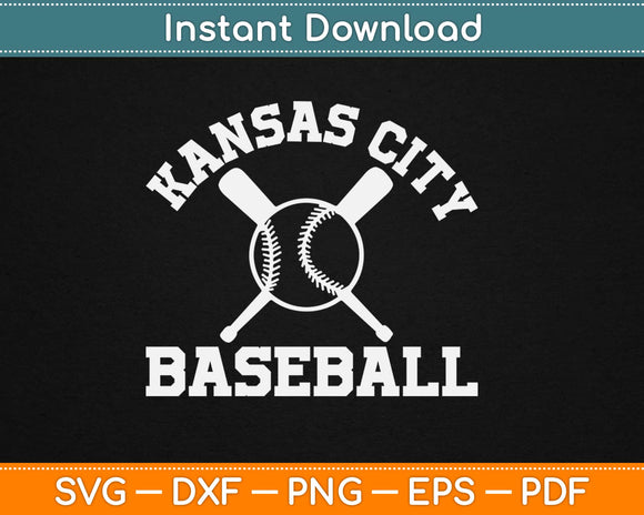 Kansas City Baseball Svg Design Cricut Printable Cutting