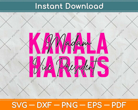 Madam Vice President Kamala Harris Svg Png Design Cricut