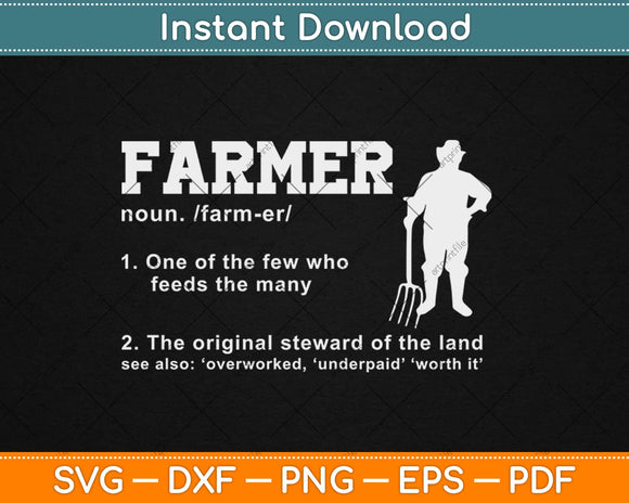 One Of The Few Who Feeds The Many Farmer Funny Svg Png Dxf