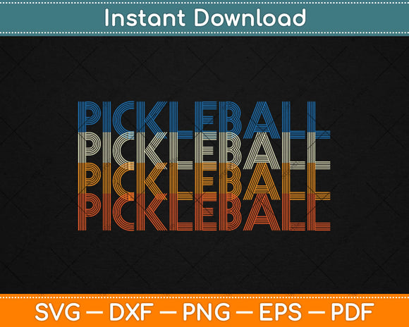 Pickle Ball Classic Retro Pickleball Svg Design Cricut