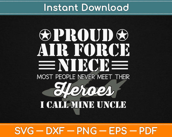 Proud Air Force Niece Military Svg Design Cricut Printable