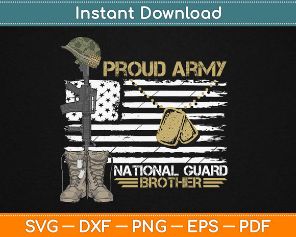 Proud Army National Guard Brother 4th of July Svg Design