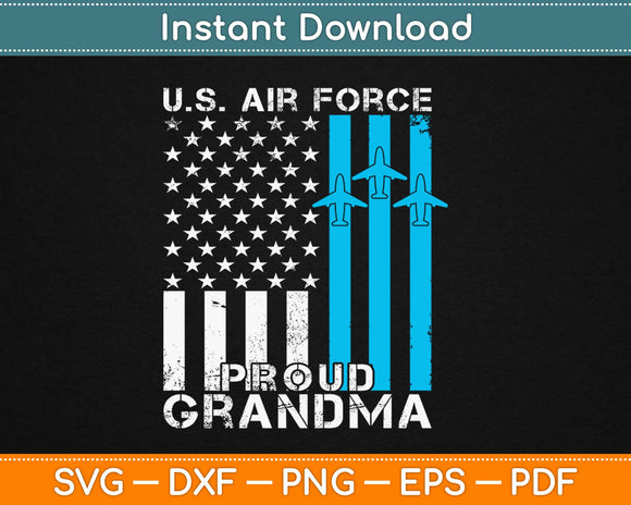 Proud Grandma US Air Force Svg Design Cricut Printable