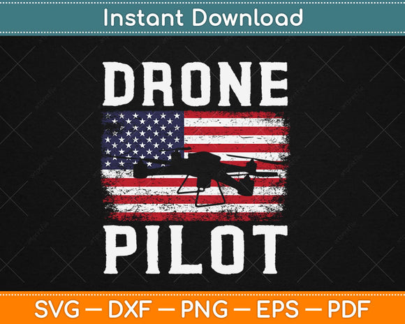 RC Drone Pilot Quadrocopter US Flag Perfect Svg Design
