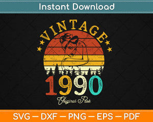 Vintage 1990 Made In 1990 29th Birthday 29 Years Old Svg