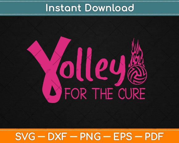 Volley For A Cure Volleyball Breast Cancer Awareness Svg