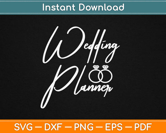Wedding Planner Svg Design Cricut Printable Cutting Files