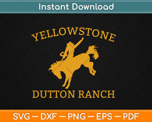 Yellowstone Svg Design Cricut Printable Cutting Files